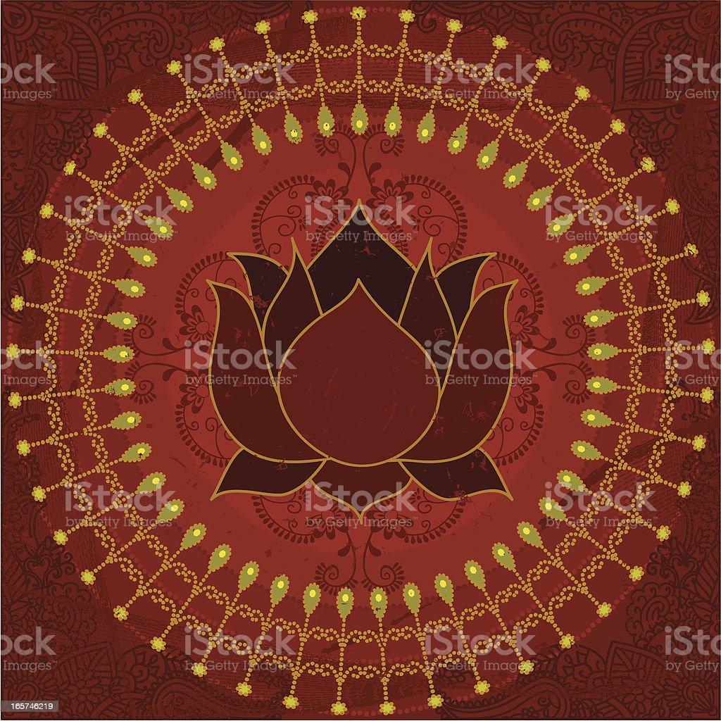 Dreamscape - Red Lotus vector art illustration
