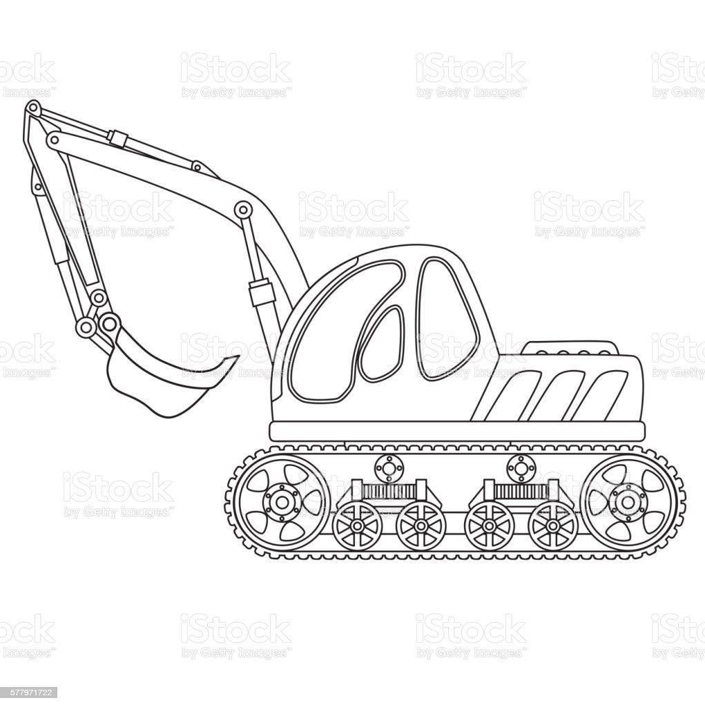 Ilustración de Dredge Toy Outlined y más banco de imágenes de ...