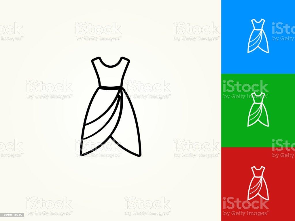Ilustración De Vestido Negro Trazo Lineal Icono Y Más