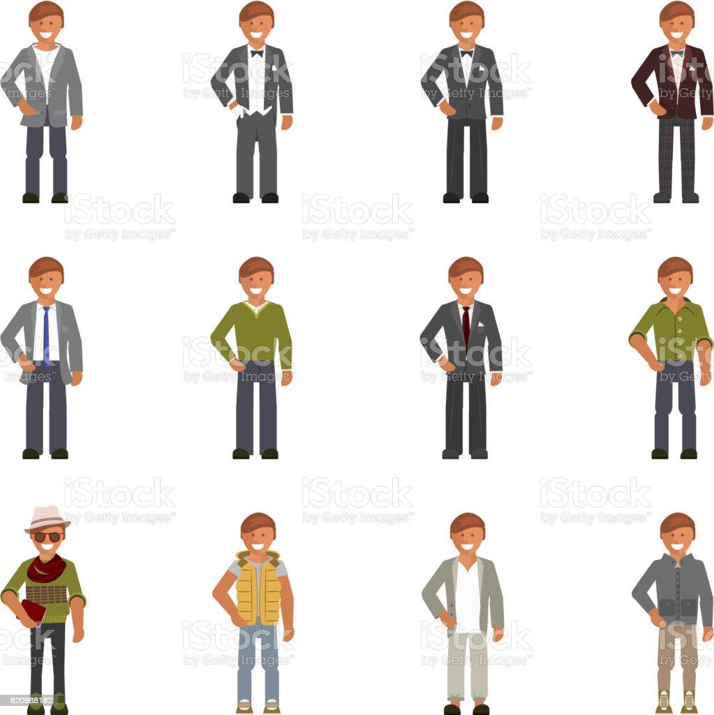 Código de vestuário para homem - ilustração de arte em vetor
