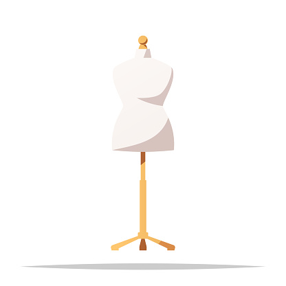 Dress form mannequin vector isolated illustration