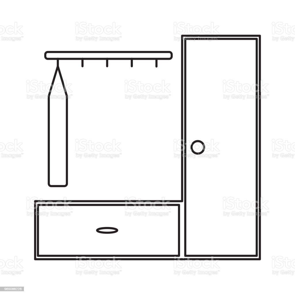 dress hanger cupboard icon dress hanger cupboard icon - stockowe grafiki wektorowe i więcej obrazów azerbejdżan royalty-free