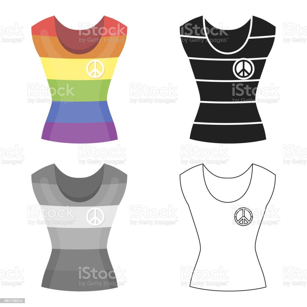 Dress icon cartoon. Single gay icon from the big minority, homosexual cartoon. vector art illustration