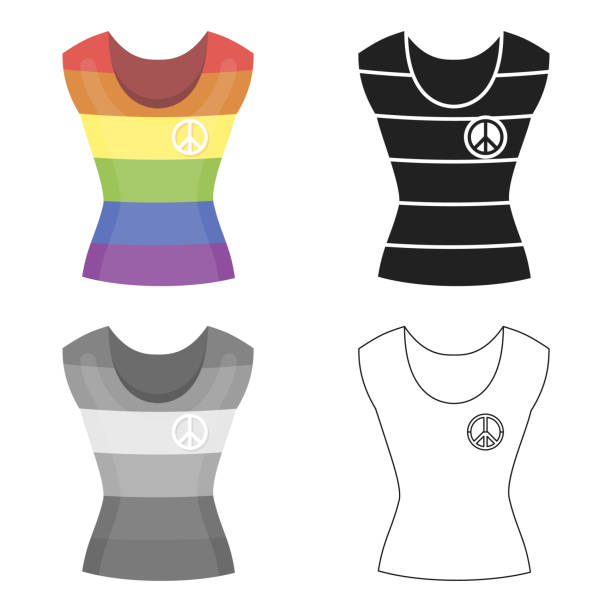 dress icon cartoon. single gay icon from the big minority, homosexual cartoon. - minority stock illustrations, clip art, cartoons, & icons