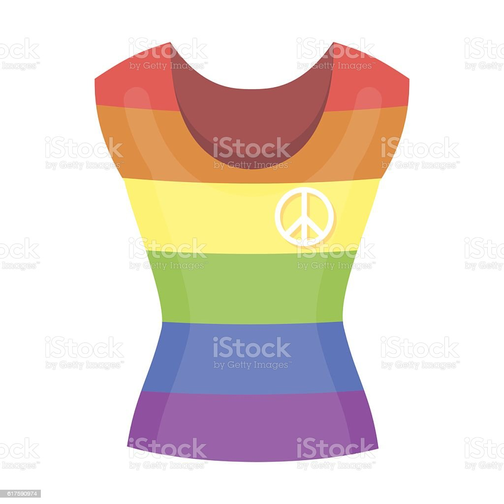 Dress icon cartoon. Single gay icon from the big minority, vector art illustration