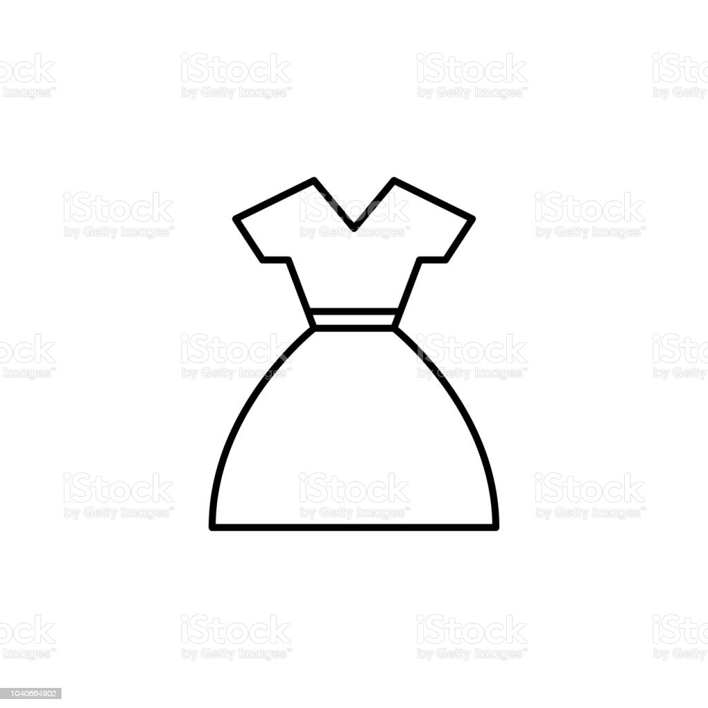 Dress Icon Element Of Clothes Icon For Mobile Concept And