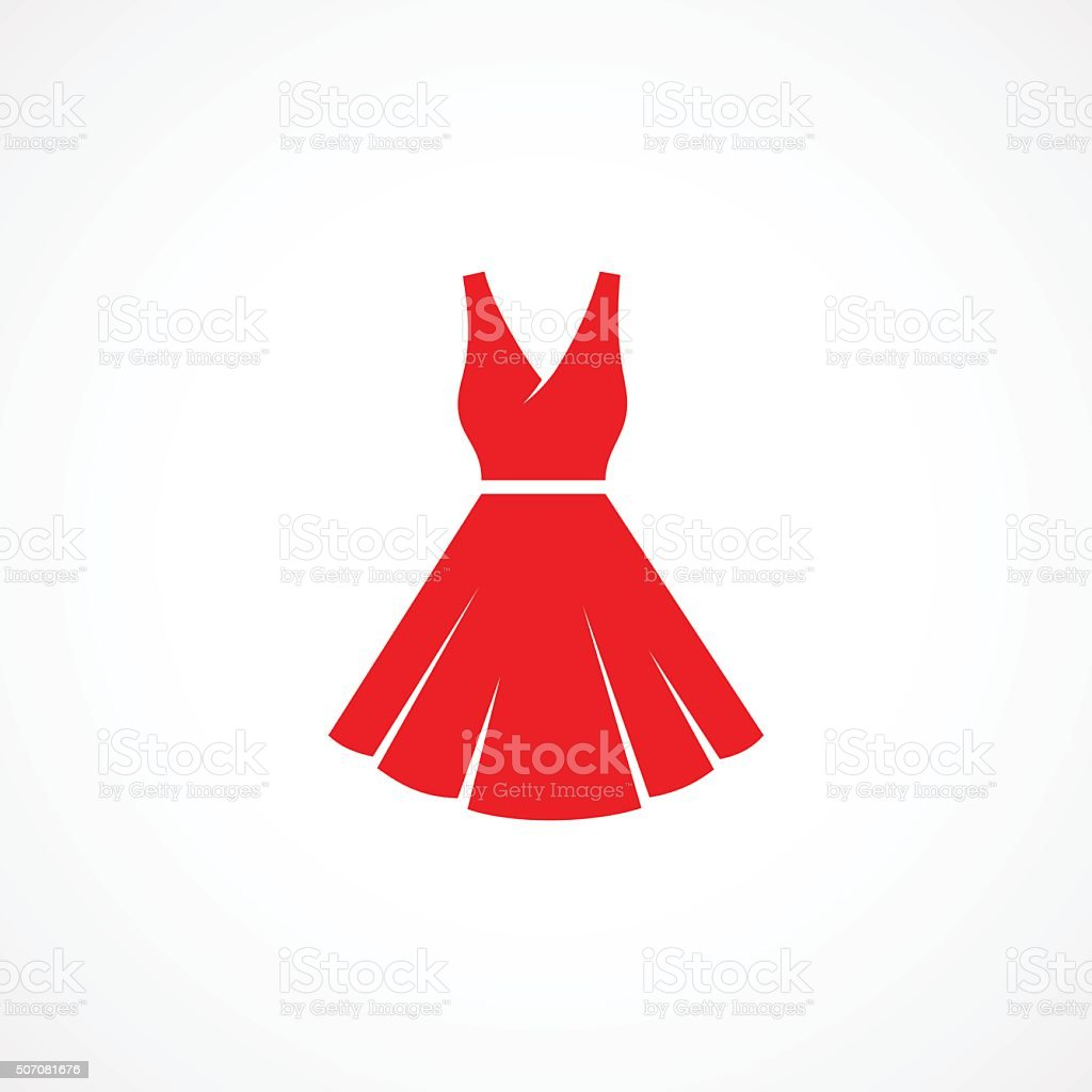 Dress Icon vector art illustration