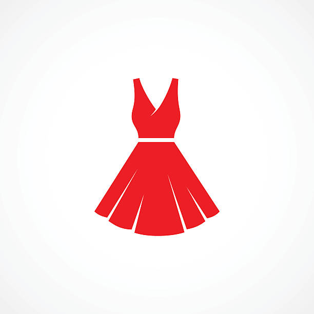 정장용 아이콘크기 - 드레스 stock illustrations