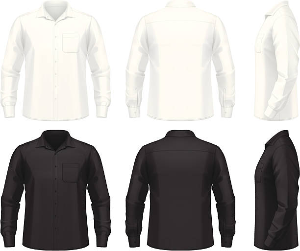 Dress shirt vector art illustration