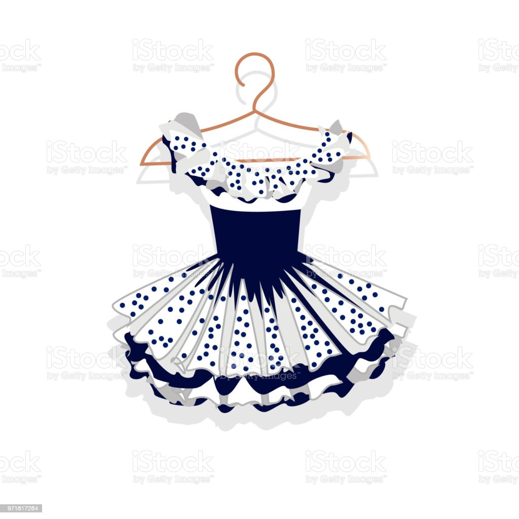 9fc2a9d303921a Dress with a lush skirt on the hanger royalty-free dress with a lush skirt