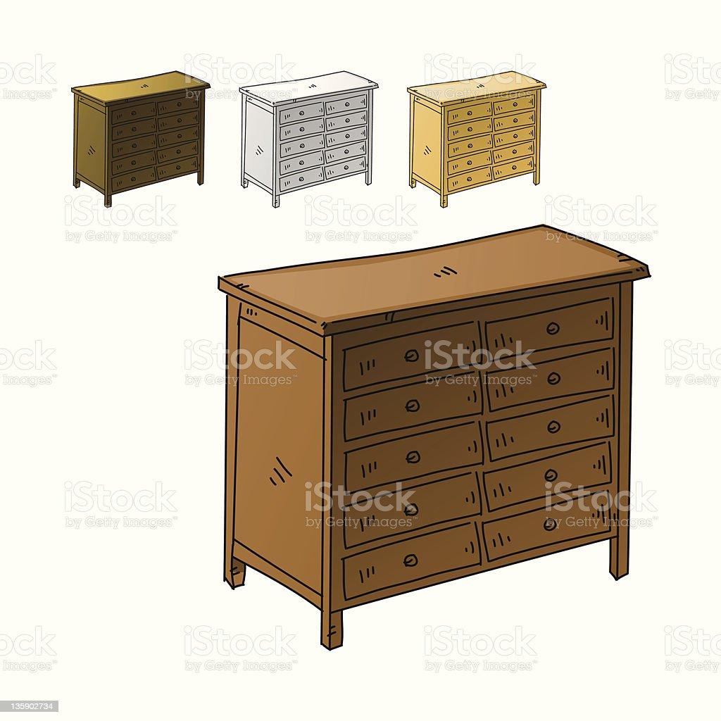 Dresser royalty-free stock vector art