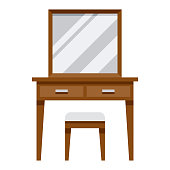 istock Dressing Table Icon on Transparent Background 1283936185