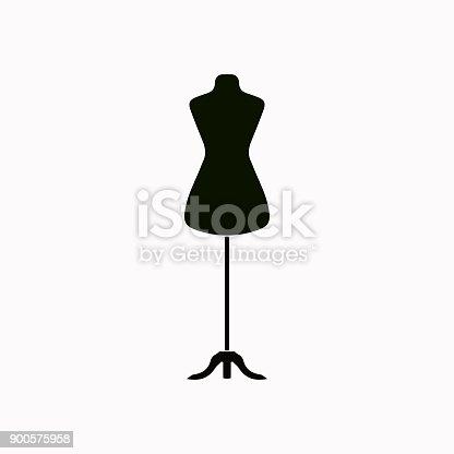 Dressmaker model vector  icon.