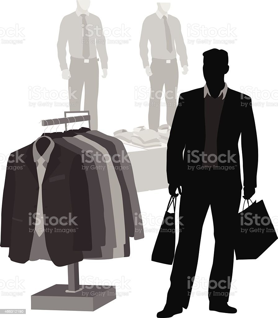 DressyClothes vector art illustration