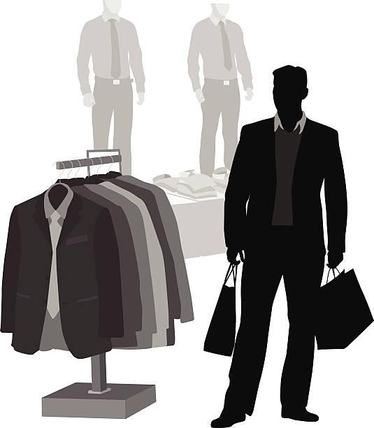 dressyclothes - mens fashion stock illustrations, clip art, cartoons, & icons