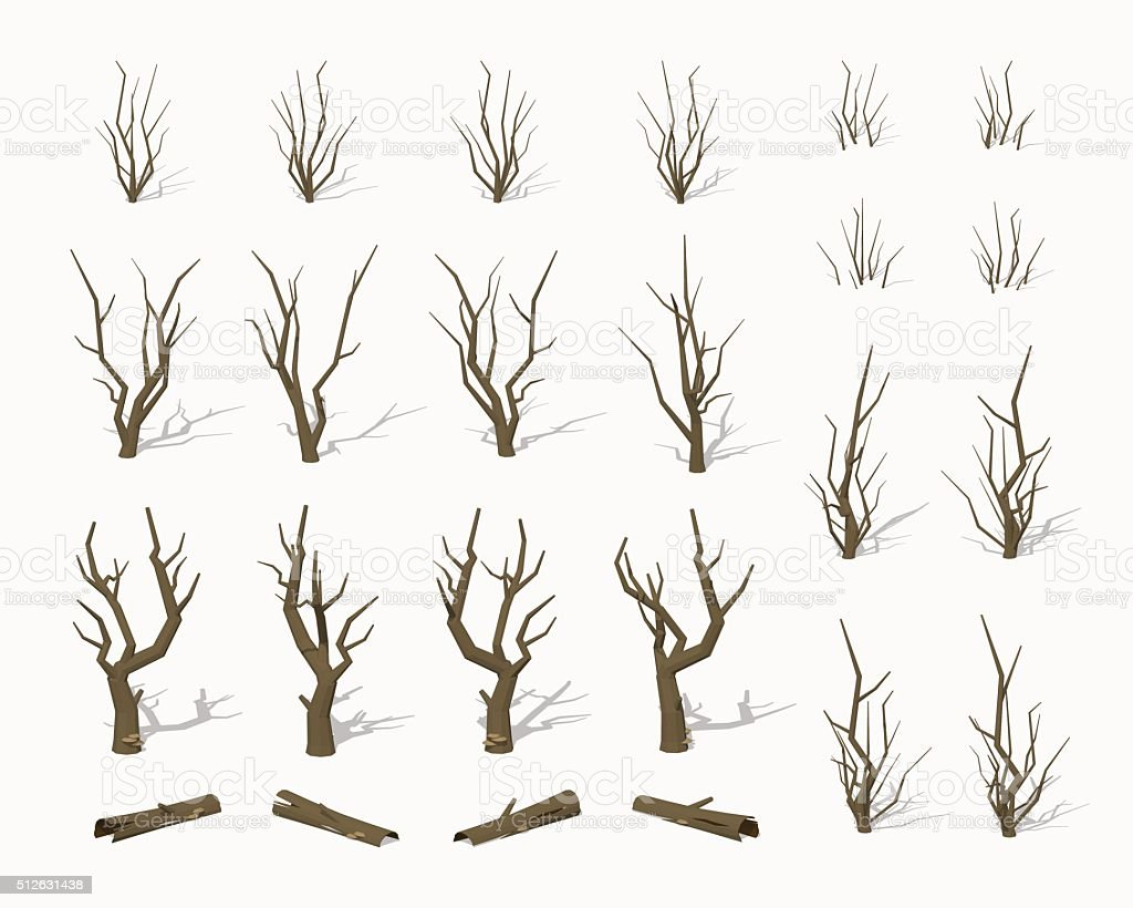 Dried dead trees