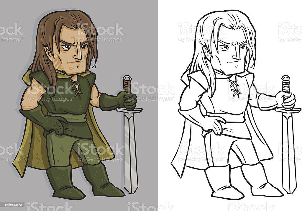 Drifter Hero vector art illustration