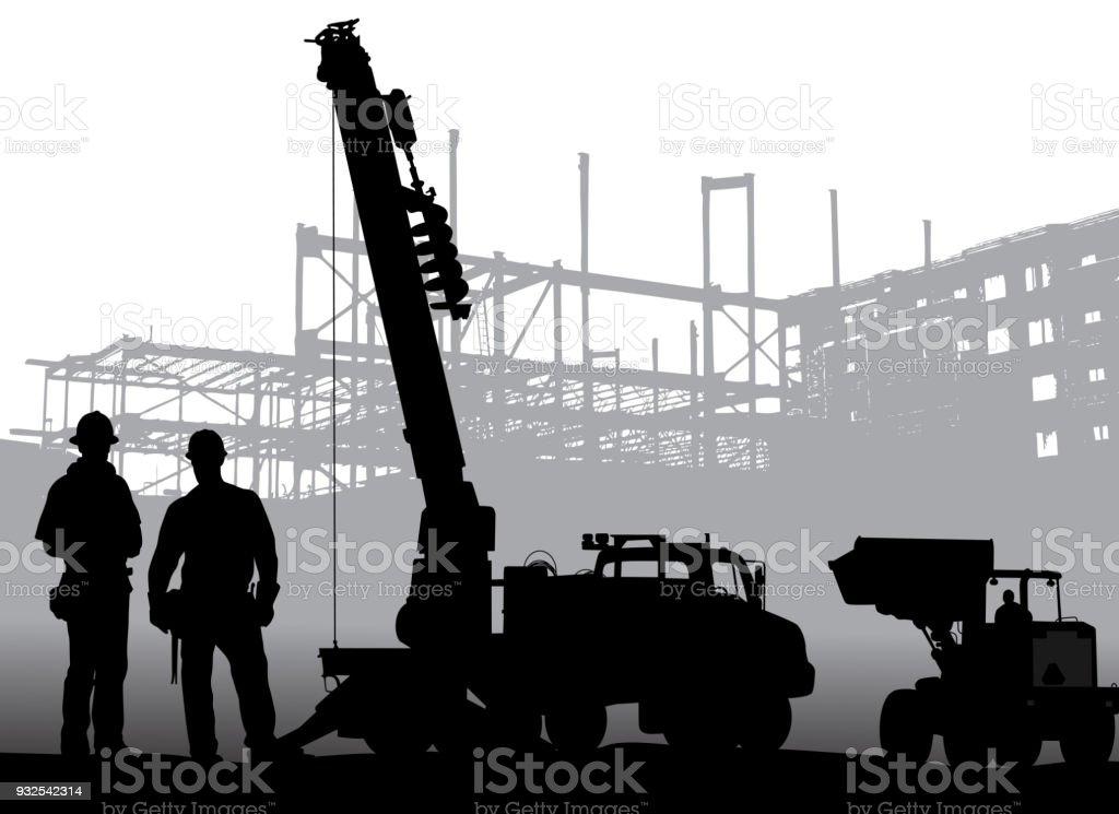 Bohrer-Bauarbeiter – Vektorgrafik