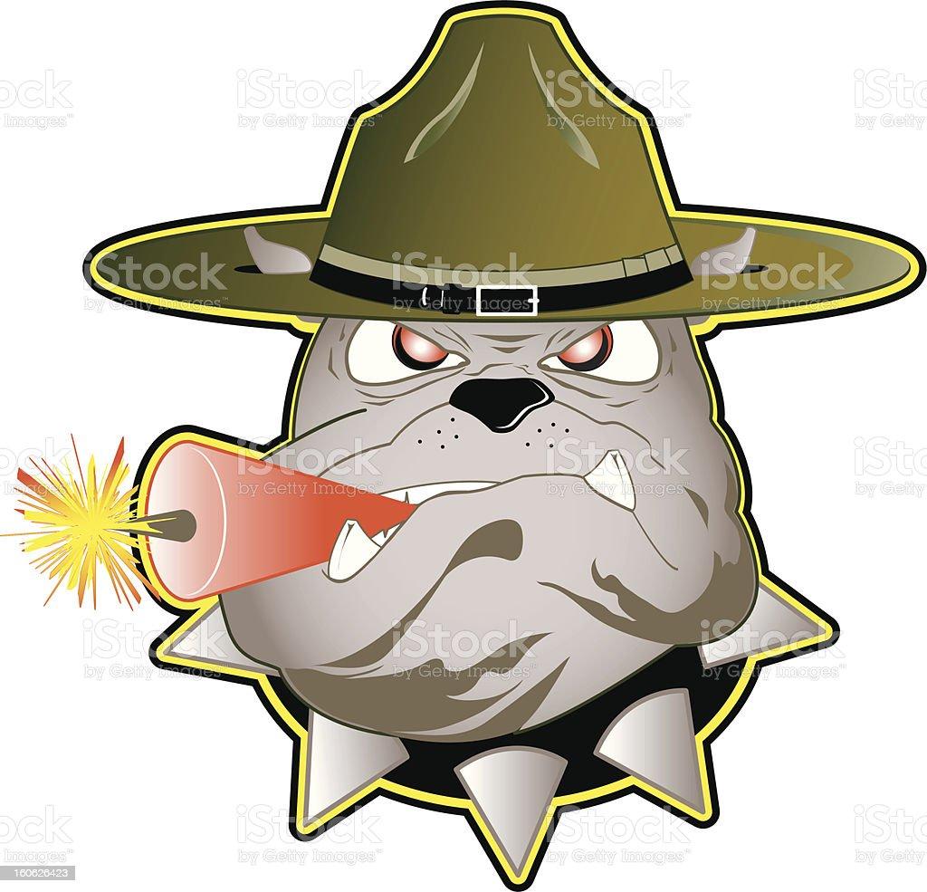 Drill Dog vector art illustration