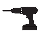 istock drill icon on white background. flat style. hand drill icon for your web site design, logo, app, UI. Screwdriver symbol. electric drill sign. 1180116844
