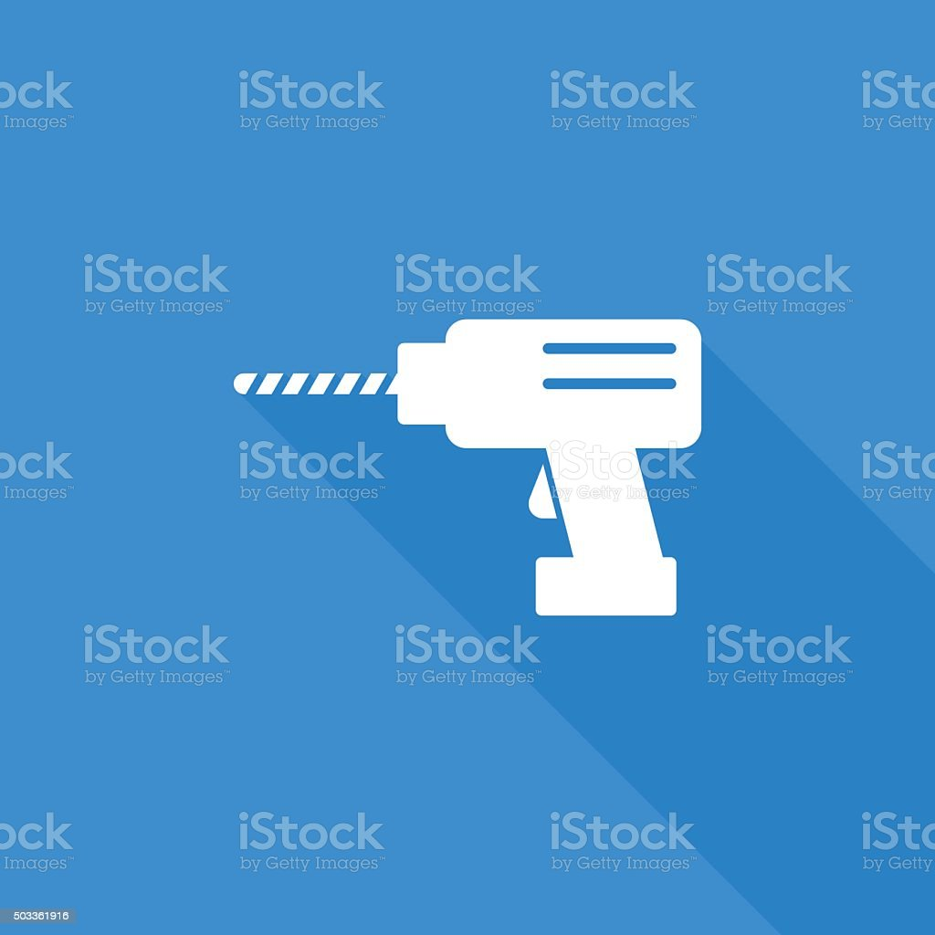 drill icon vector art illustration