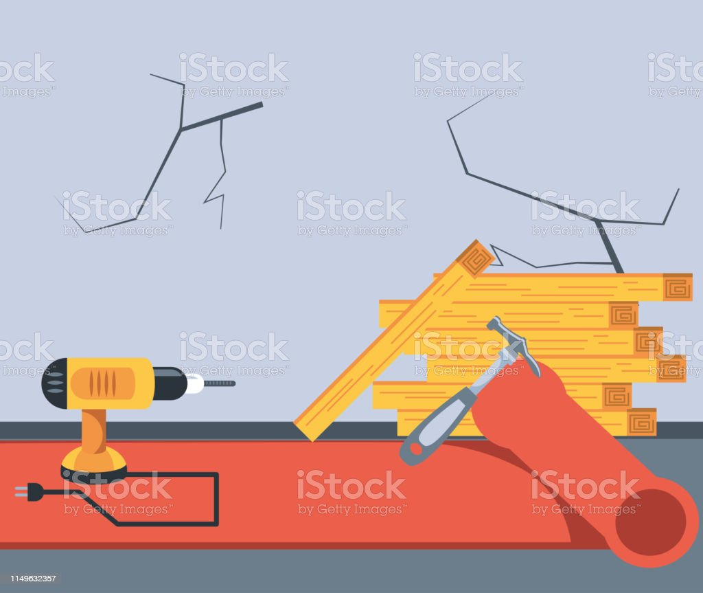 Drill Perforator Tool With Hammer Stock Illustration Download Image Now Istock