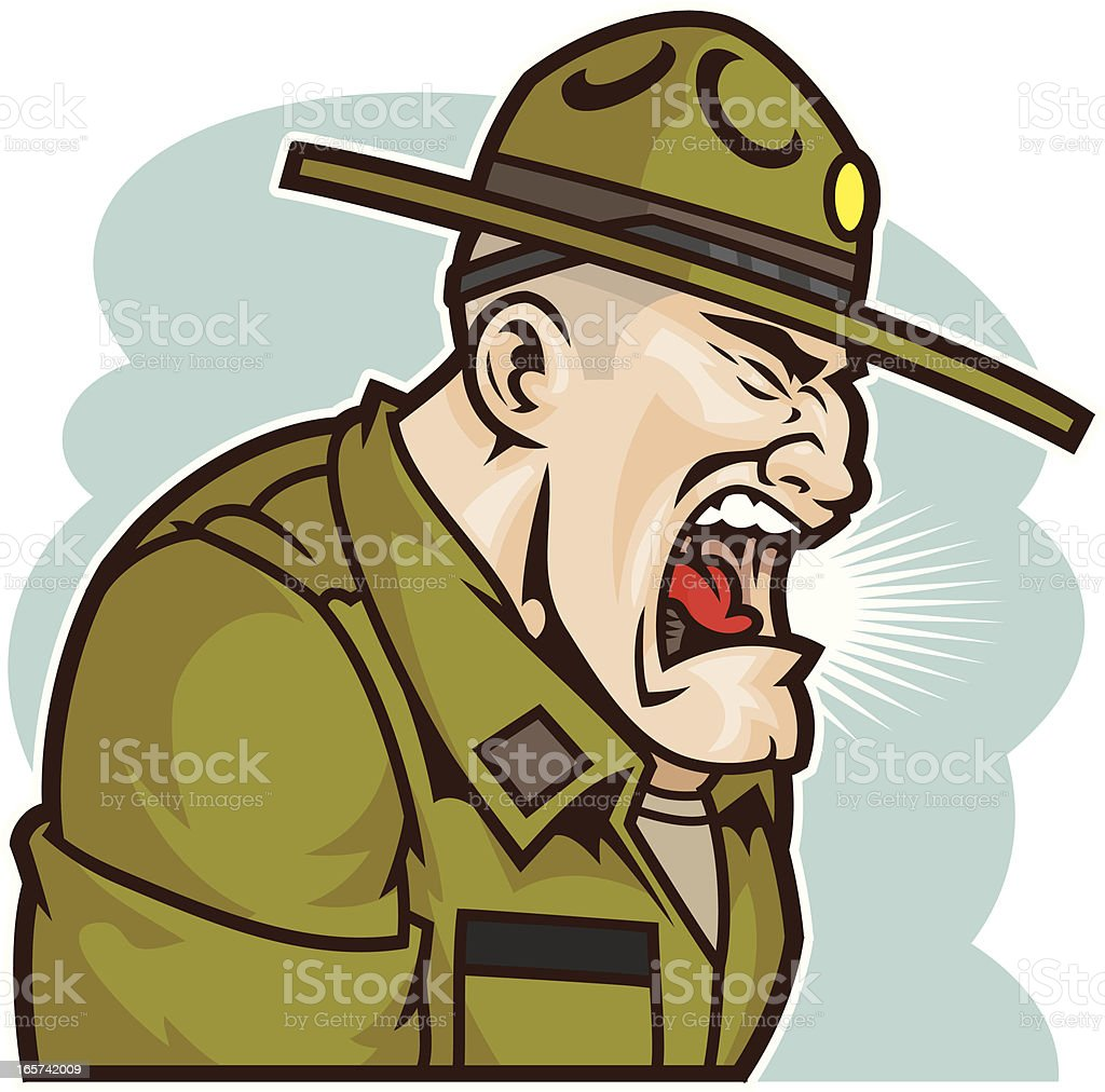 Drill Sergeant royalty-free drill sergeant stock vector art & more images of aggression
