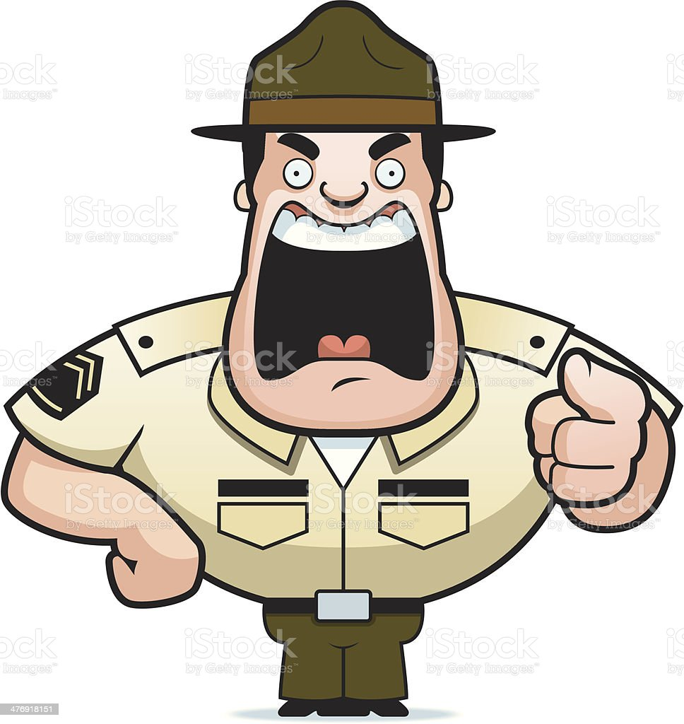 Drill Sergeant royalty-free drill sergeant stock vector art & more images of anger