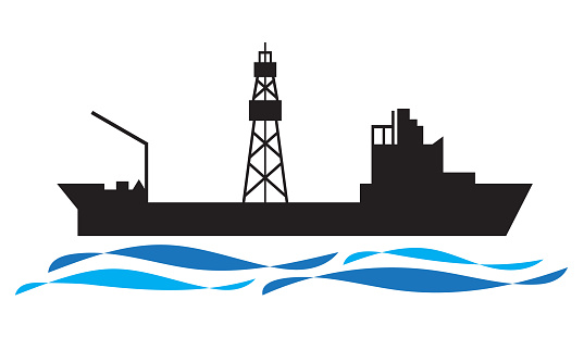 Drilling ship icon