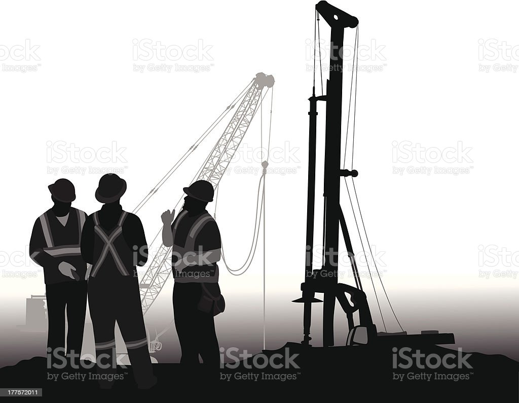 Drilling royalty-free drilling stock vector art & more images of black color