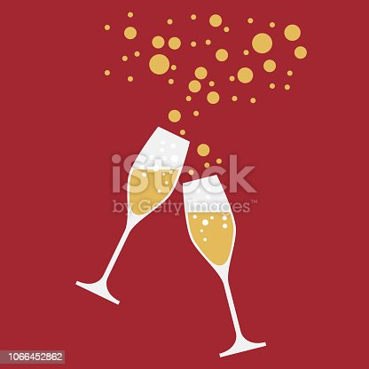 drink a toast to the party, New Year's Eve dinner, vector background