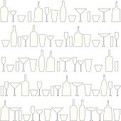 Bottles and glasses background.Zip contains high resolution jpeg,AI8,eps8,pdf.