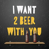 Drink beer, I wont two beer with you