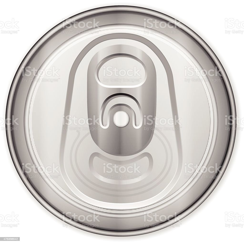 Drink can top vector art illustration