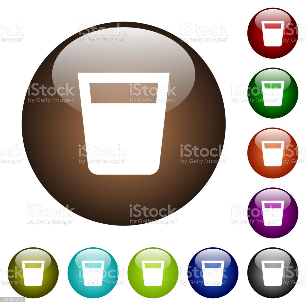 Drink color glass buttons royalty-free drink color glass buttons stock vector art & more images of alcohol