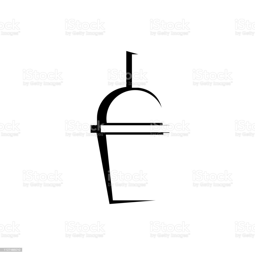 drink cup fast food vector icon on white background