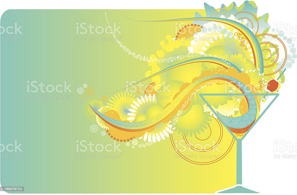 Drink explosion: Cocktail royalty-free stock vector art