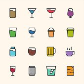 Drink Icon Outline Series Vector EPS File.