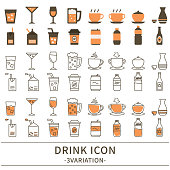 3 variations of the drink icon.