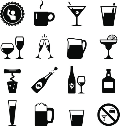 Drink Icons - Black Series