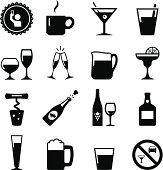 Drink Icons - Black Series