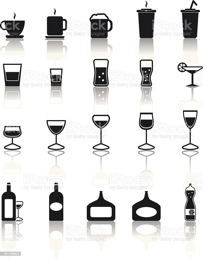 Drink icons set royalty-free stock vector art
