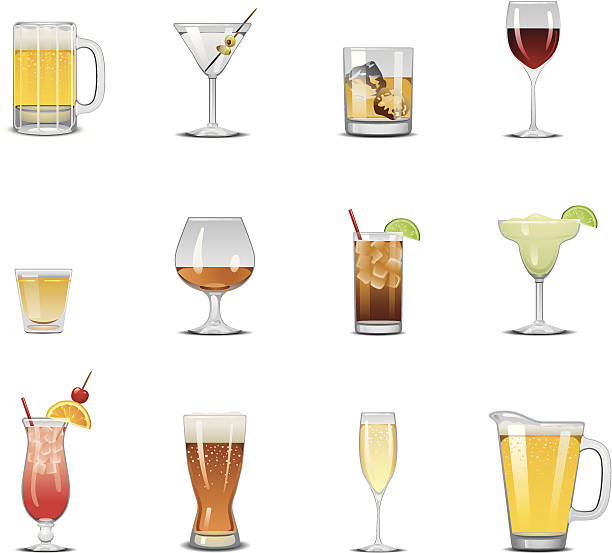 drink icons - refreshment stock illustrations, clip art, cartoons, & icons