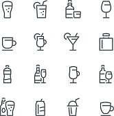 Drink, alcohol, icon, icon set, cocktail, beer, tea, coffee