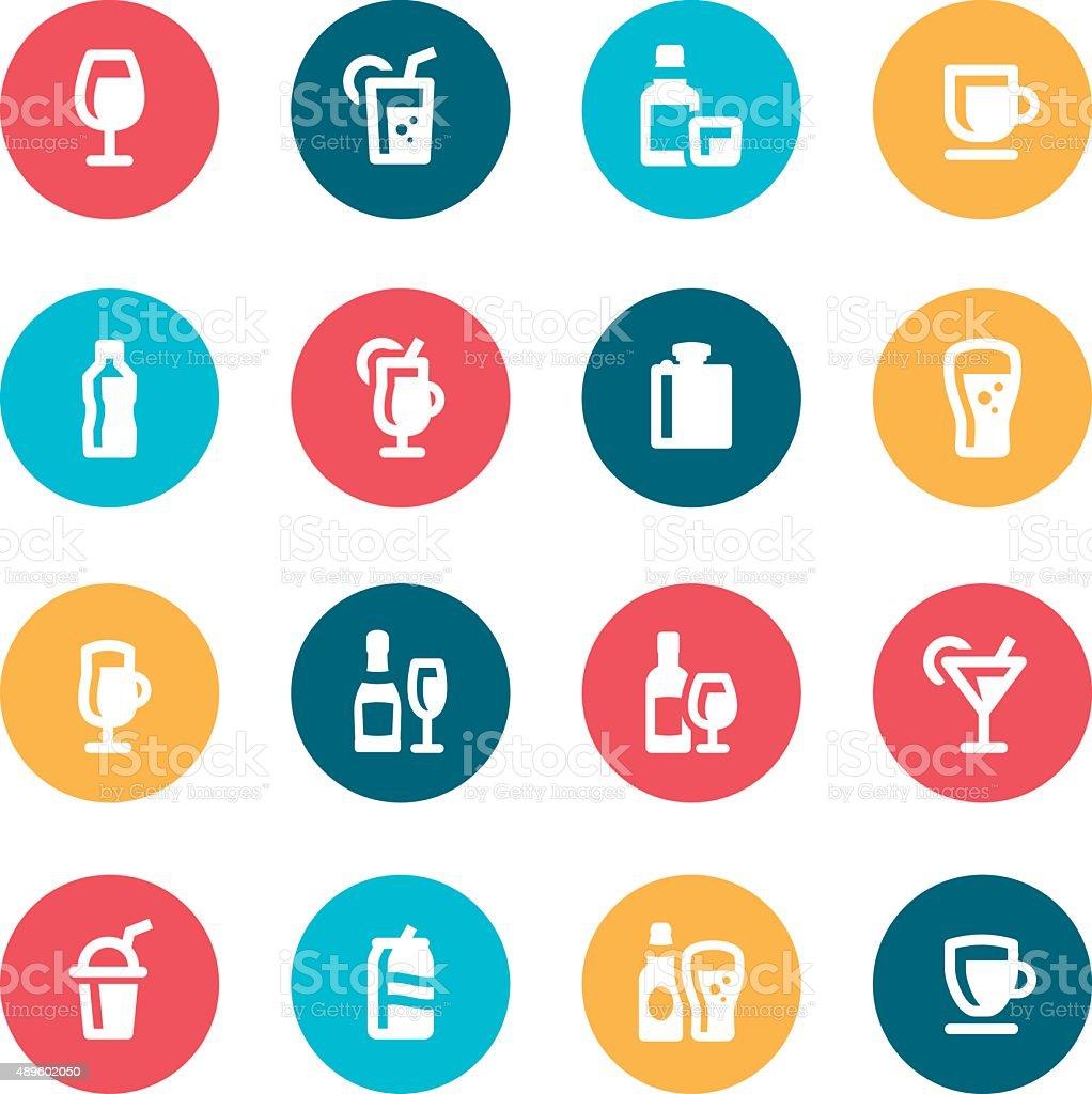 Drink Icons vector art illustration