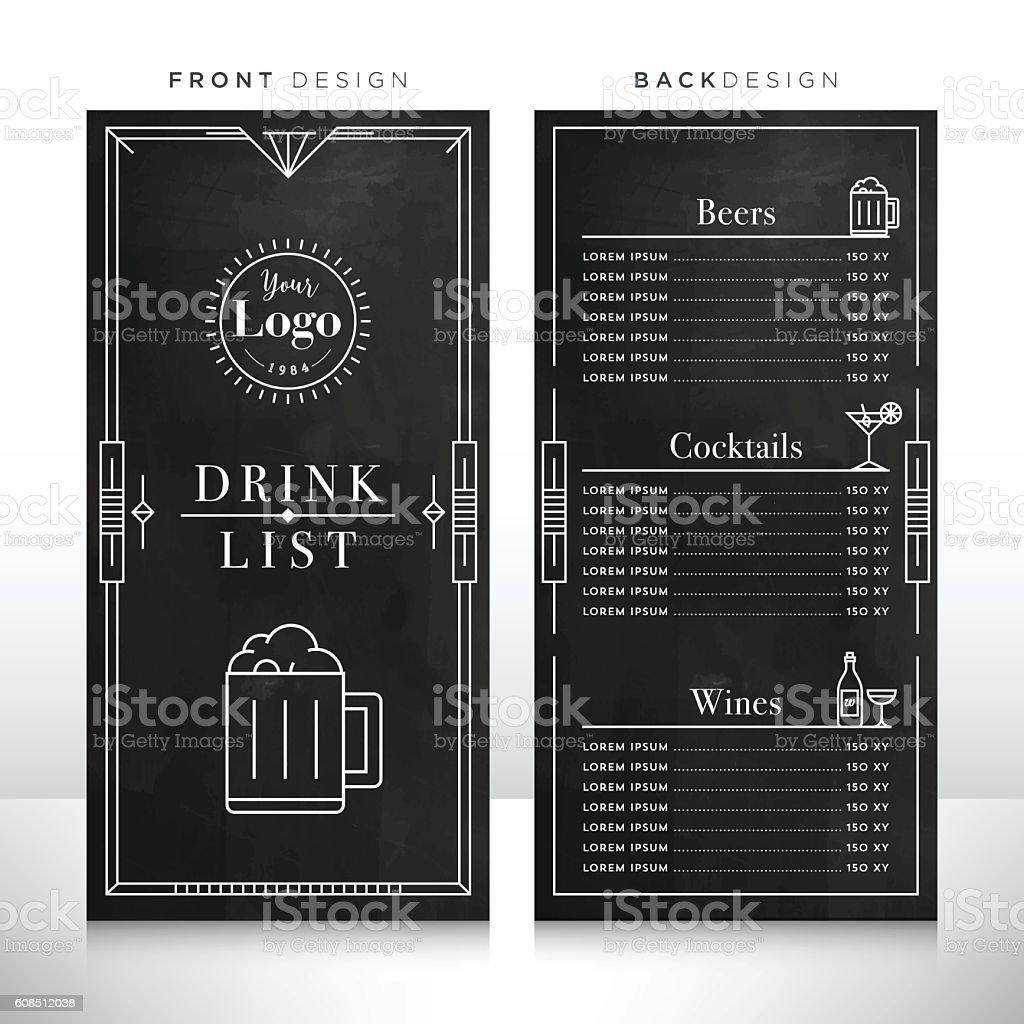 drink list menu design template まっすぐのベクターアート素材や画像
