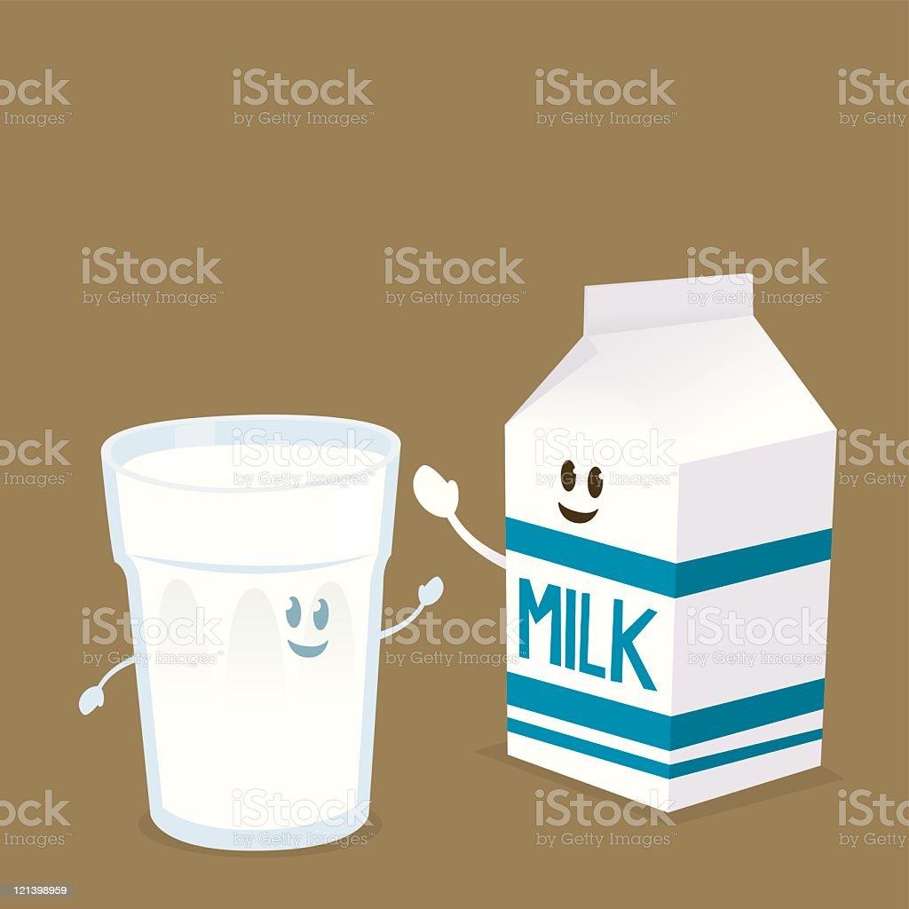 Milch trinken – Vektorgrafik