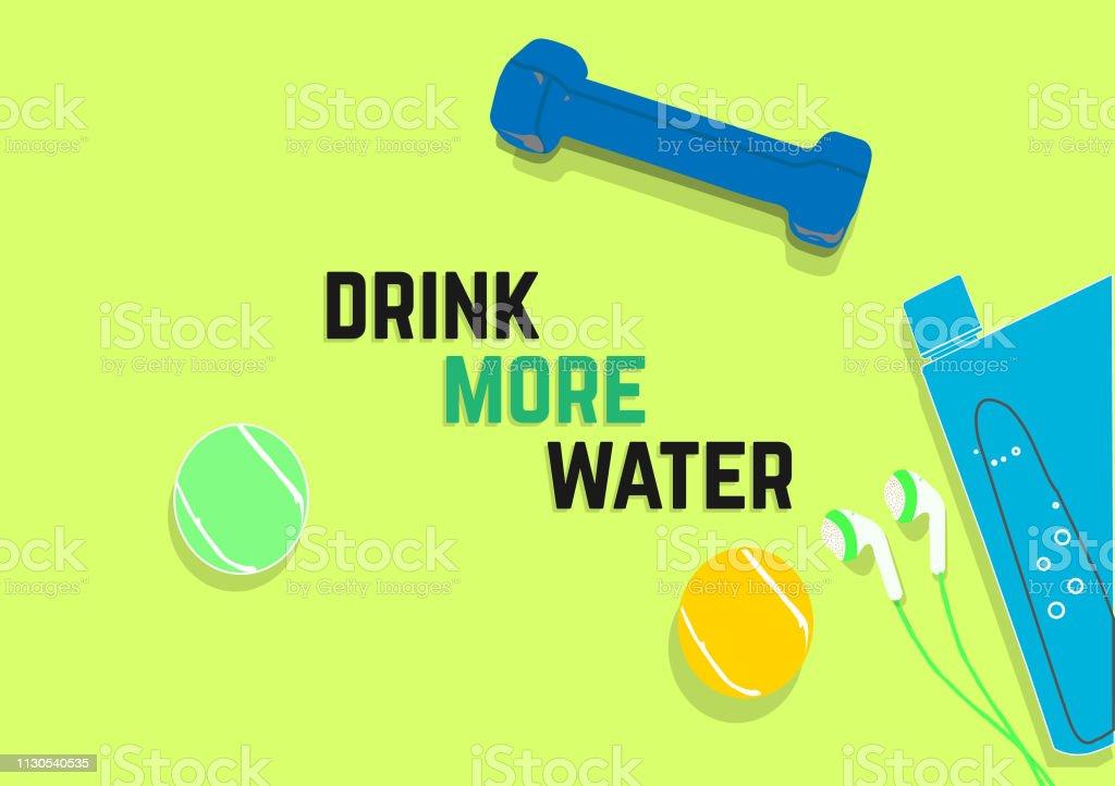 Ilustración De Beber Más Agua Frases De Motivación De
