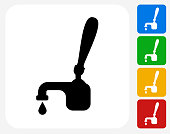 Drink on Tap Icon Flat Graphic Design