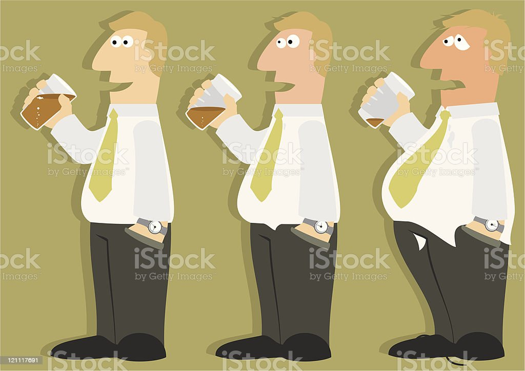 Drink Problem? royalty-free stock vector art